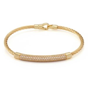 cable diamond bracelets