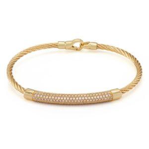 cable diamond bracelets