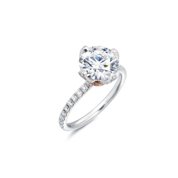 18Krosegold platinum diamond ring